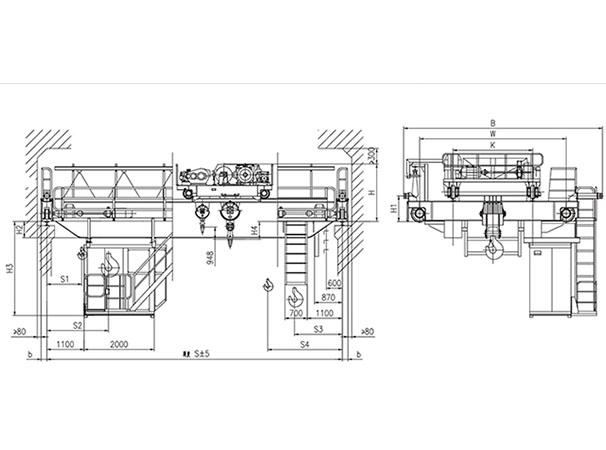 QD型50、10t吊钩桥式起重机
