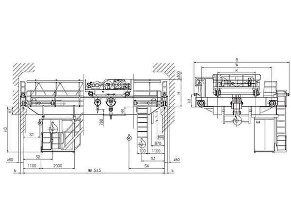QD型32、5t吊钩桥式起重机