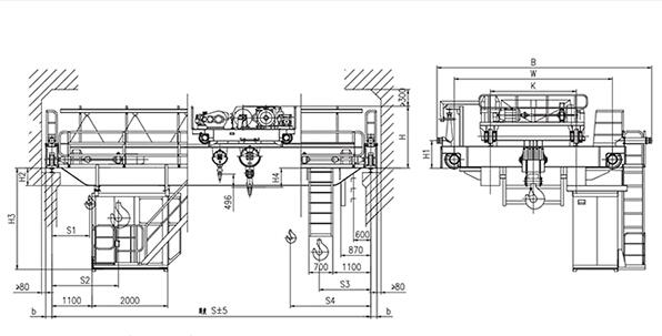 QD型20、5t吊钩桥式起重机