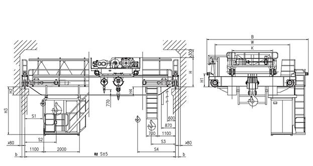 QD型16、3.2t吊钩桥式起重机