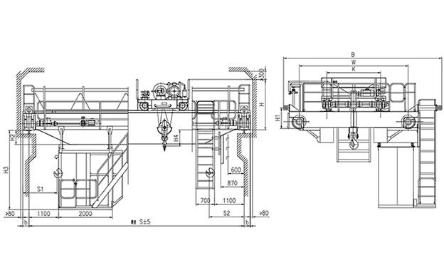 QD型10t吊钩桥式起重机