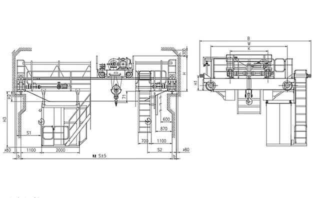 QD型5t吊钩桥式起重机