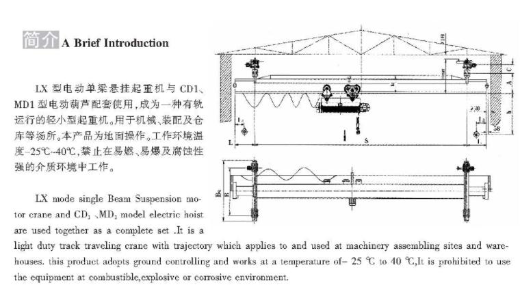 LX型电动单梁悬挂万博首页登录APP下载