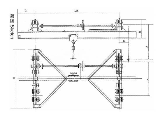 SLX型手动单梁悬挂起重机