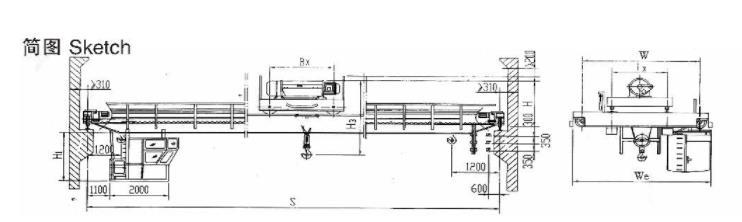 LHB型防爆电动葫芦桥式起重机