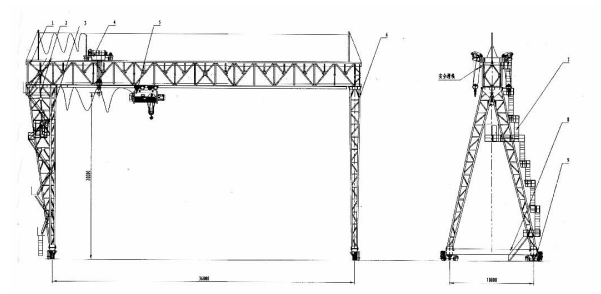 MDE型25×2+25T单主梁门式起重机